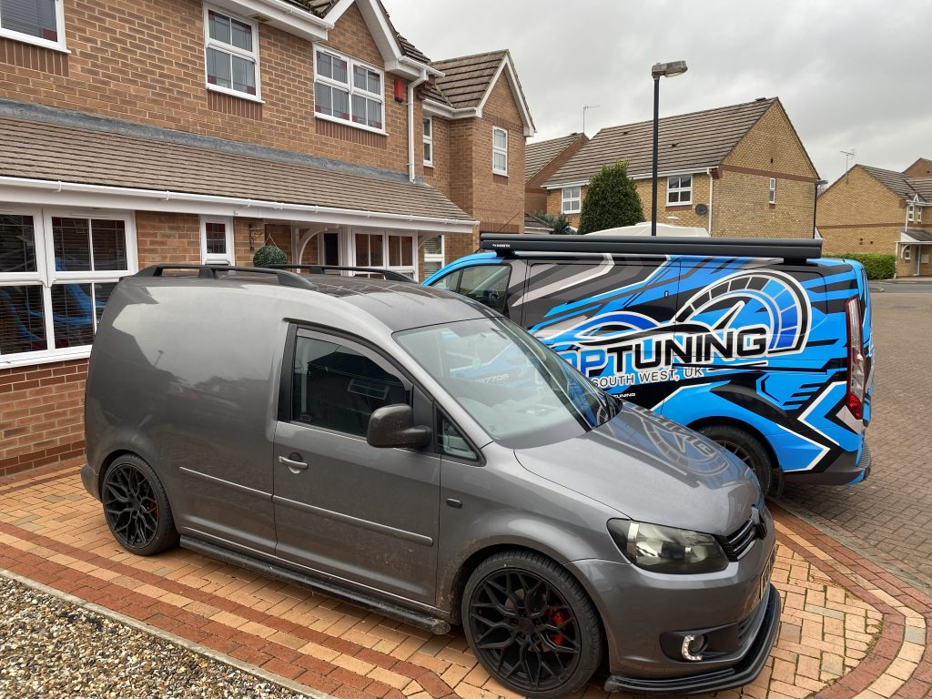 top-tuning preparing to remap grey van for client