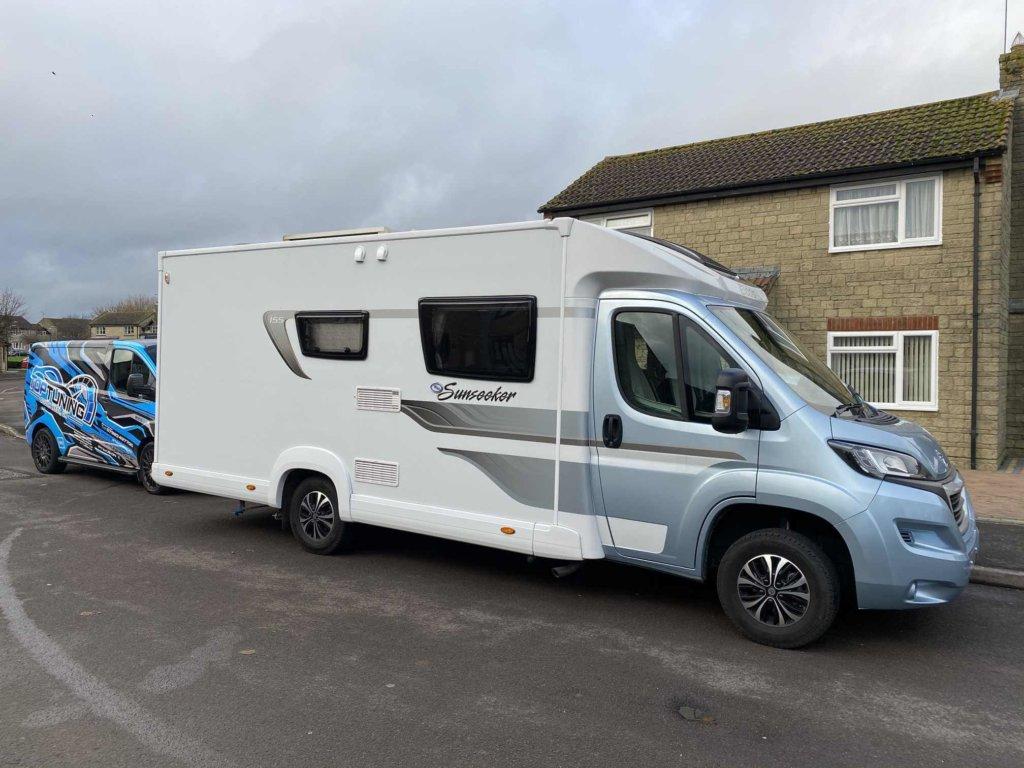 Camper van being remapped for fuel efficiency