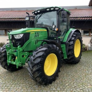Green tractor of client