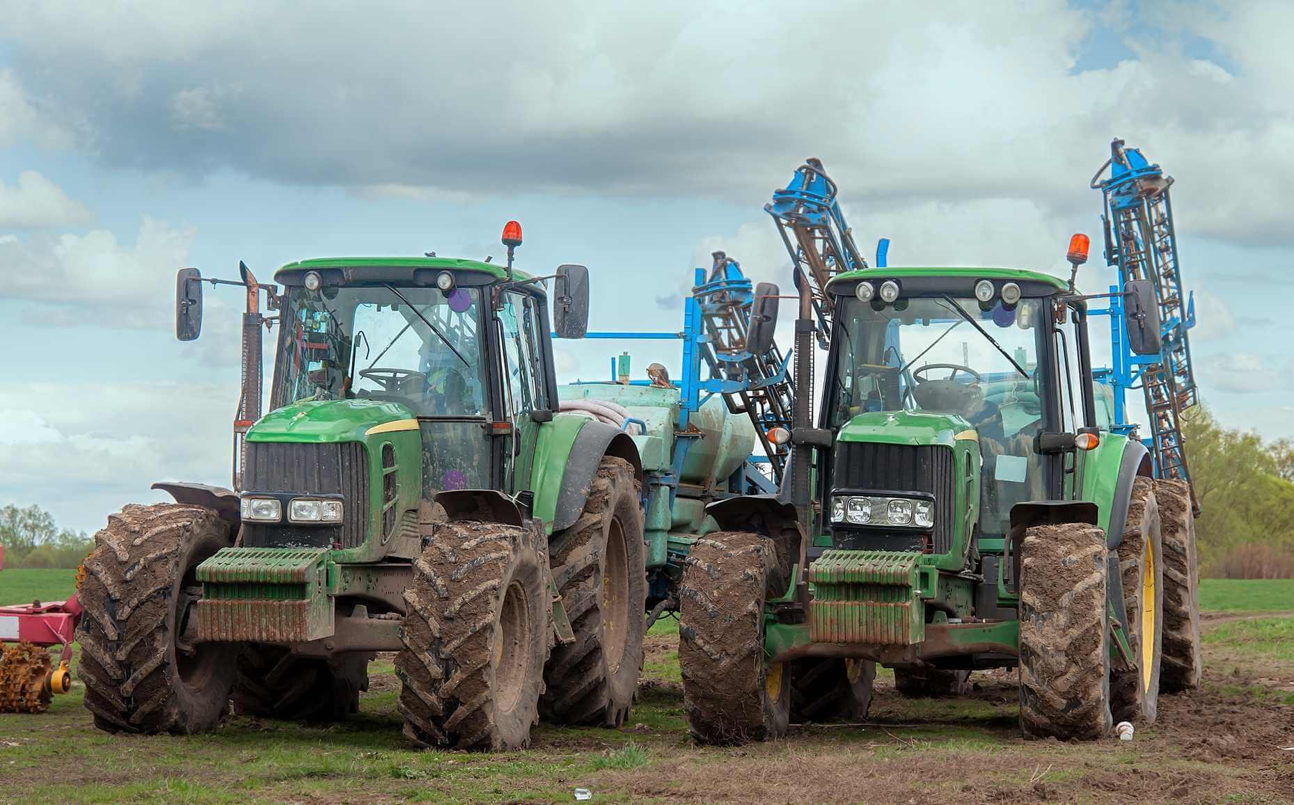2 tractors in field
