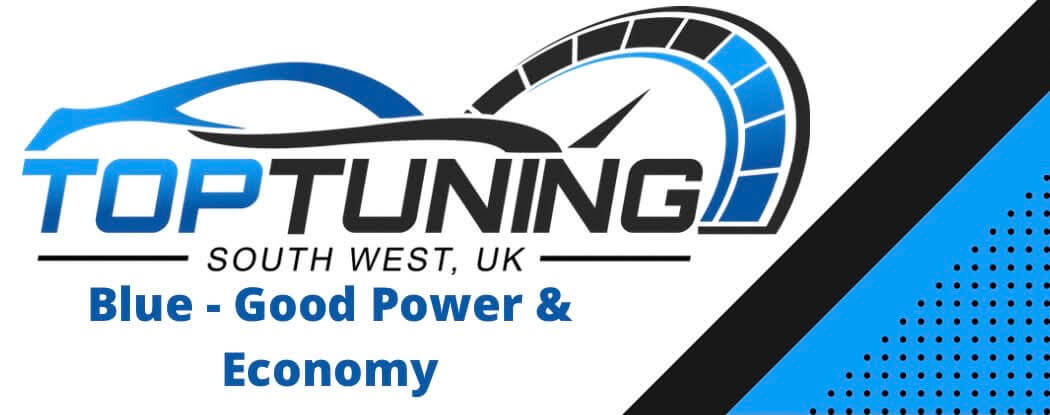 Top Tuning Blue logo for power and economy