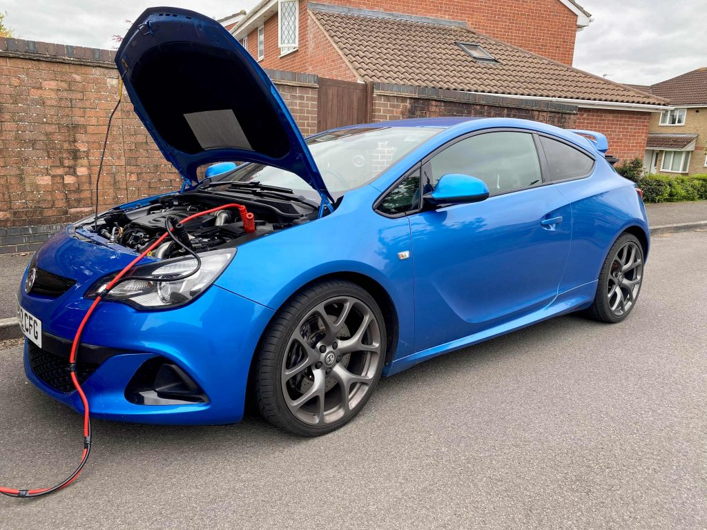 blue vauxhall being remapped